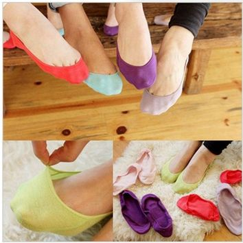 ONETOW 20 pieces / lot women socks ankle low female invisible socks sock slippers shallow mouth summer sock thin high cotton solid color = 1930342532