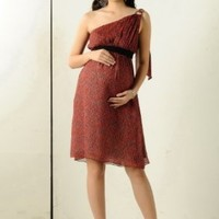 Women's KC&PP Asymmetrical Tie Shoulder Chiffon Dress (Maternity) - More Colors Available