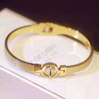 Bvlgari Stylish Women Chic Golden Bracelet Accessories Jewelry