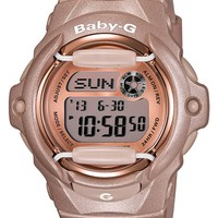Women's Baby-G Pink Dial Digital Watch, 46mm x 42mm - Champagne Pink