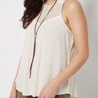Ivory Lace High Neck Swing Tank | Going Out Tank Tops | rue21