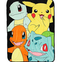 Pokemon Starters Throw Blanket