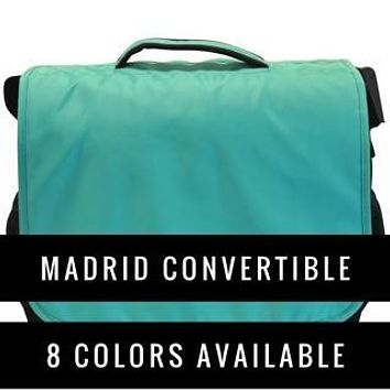 Obersee Madrid Convertible Diaper Backpack Messenger Bag