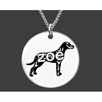 Dalmatian Necklace |  Personalized Dog Necklace