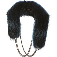 Raccoon-Fur and Chain Eternity Collar by Wyler Now Available on Moda Operandi