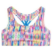 TIE DYE CROSS BACK SPORTS BRA | GIRLS SPORTS BRAS ACTIVEWEAR | SHOP JUSTICE