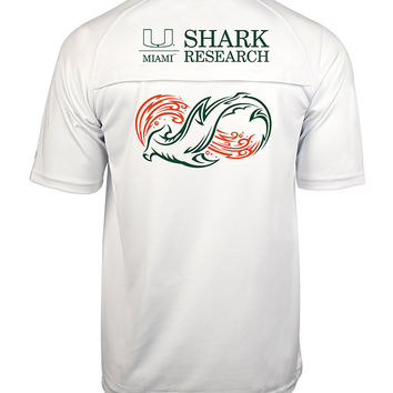Men's Univ. of Miami Cool Winds Vented S/S Shirt
