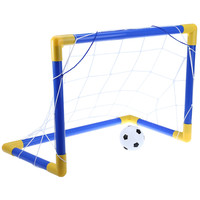Hot Sale Mini Children Football Soccer Goal Post With Net Set Easy to Install Football Goal Post Set For Outdoor Indoor Kids Toy