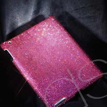 Swarovski Crystal Embellished Bling Pink Crystal iPad Case Available for All iPad Models - Bling iPad Mini, iPad Air Case