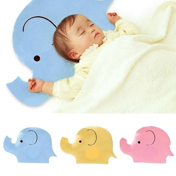 3Colors Baby Shaping Pillow Soft Cotton Lovely Cartoon Sleep Head Positioner Anti-rollover Elephant New Born Babies Pillows