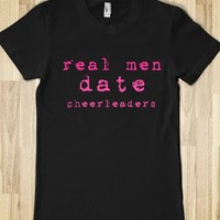 Real men date cheerleaders-Female Black T-Shirt