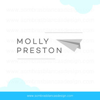 OOAK Premade Logo Design - Paper Plane - Perfect for a freelance professional or as a personal brand