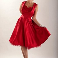 Red Christmas Swing Dress