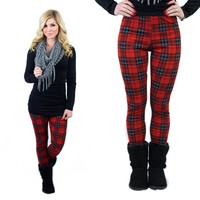 Plaid Influence Patterned Leggings