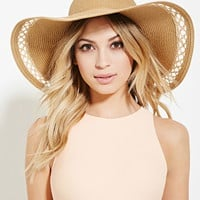 Cutout-Trim Straw Hat | Forever 21 - 2000153072