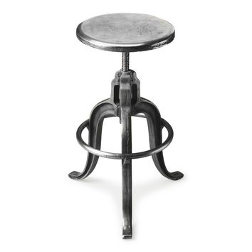 Parnell Industrial Chic Iron Bar Stool