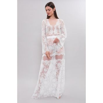 Long Lace Bridal Nightgown F18