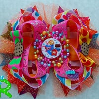 Shopkins Boutique Stacked Hair Bow ,Shopkins Hair Bow , Shopkins Layered Bow