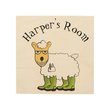 George - he's a little sheepish kid's room sign