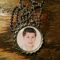 Michael Cera Arrested Development George Michael face bottlecap necklace