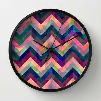 Painted Chevron Wall Clock by Schatzi Brown