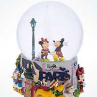 disney parks epcot france snowglobe light up mickey and friends in paris new