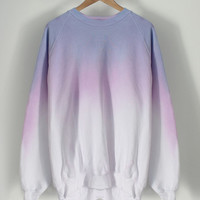 ANDCLOTHING — Pastel Crayon Dip Dye Sweater <em>SOLD OUT</em>