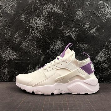 "Nike Air Huarache 4 Run Ultra SE ""Milk White/Purple"" Sport Shoes - Best Online Sale"