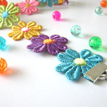 Colorful flower daisy sunflower choker kawaii boho bohemian cute sweet fairy magical hippy 90s pastel goth rainbow adjustable choker collar