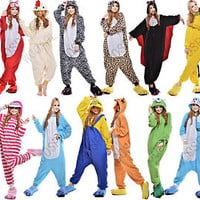 New Unisex Adult Fancy Animal Onesuit Kigurumi Cosplay Pajamas Sleepwear Costume