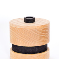 Striped Canister with Lid