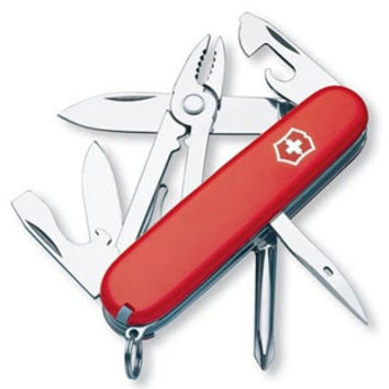 Victorinox Swiss Army Mechanic Pocket Knife - Solid Red Case - Screwdriver