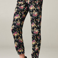 FLORAL PRINT PANTS - PINKS