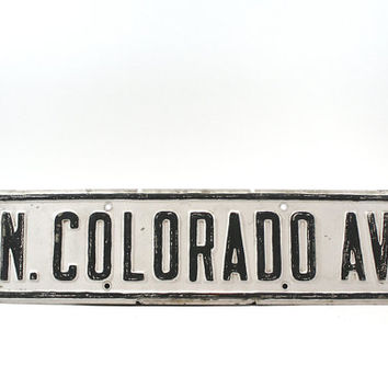 Vintage Street Sign / Industrial / Road Sign