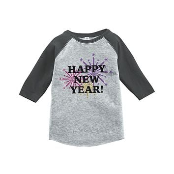 Custom Party Shop Kids First New Year Raglan Shirt