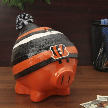 Cincinnati Bengals Piggy Bank - Large With Hat