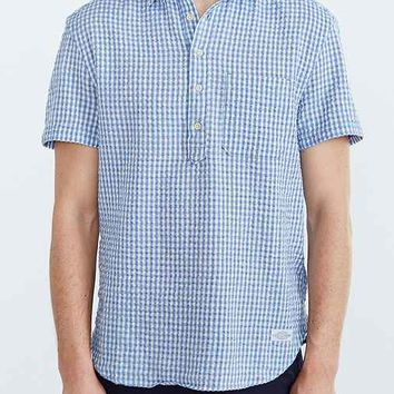 CPO Short-Sleeve Seersucker Gingham Popover Shirt