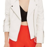 Topshop Luna Faux Leather Biker Jacket | Nordstrom