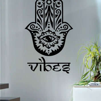 Hamsa Hand Vibes Version 4 Design Decal Sticker Wall Vinyl Decor Art