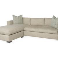 One Kings Lane - Lounge Around - Morgan Reversible Sectional, Oatmeal