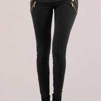 Vice Zipper Legging - Black at Necessary Clothing