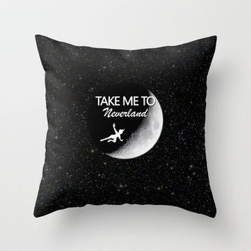 Take Me To Neverland Throw Pillow by Amber Rose | Society6