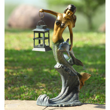 SPI Garden Collection Mermaid Lantern