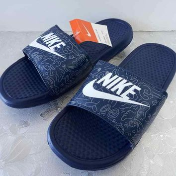 Nike Benassi JDI QS 631261-011 Slide Sandals / Flip Flops Slipper For Men Size 7-11