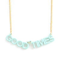 party banner necklace - good times