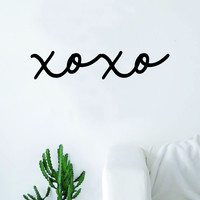 XOXO Cursive Quote Wall Decal Sticker Bedroom Living Room Art Vinyl Beautiful Cute Hugs Kisses Love