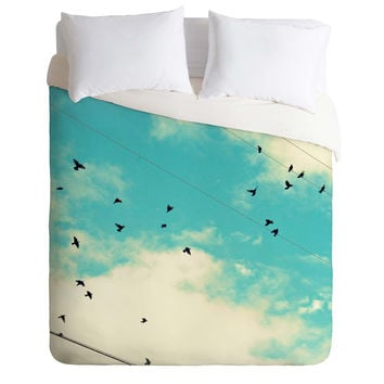 Shannon Clark Blue Skies Ahead Duvet Cover