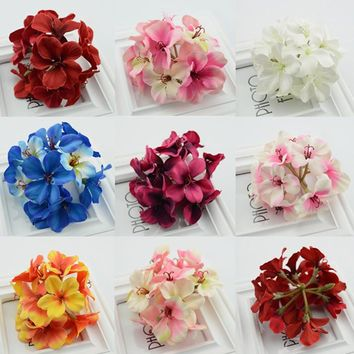 Hydrangea bouquet of artificial flowers lovely cherry diy material garlands wedding bride holding flower decoration