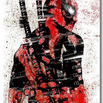 Deadpool Dead pool Taco Custom Canvas Wall Mural Splat Colors  Posters Marvel  Painting Stickers Anime Wallpaper Bedroom Wall Art #0416# AT_70_6