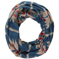 Tribal Print Infinity Scarf by Charlotte Russe - Blue Combo
